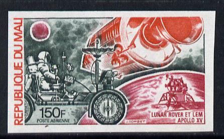 Mali 1972 History of Transport 150f (Lunar Rover & Apollo 15) imperf as SG 322 unmounted mint