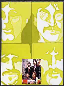 Laos 2000 The Beatles imperf deluxe sheet #01 (yellow background) unmounted mint