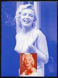 Laos 2000 Marilyn Monroe imperf deluxe sheet #02 (blue background) unmounted mint