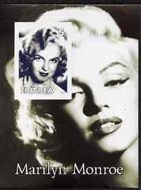 Eritrea 2001 Marilyn Monroe imperf m/sheet #2 unmounted mint
