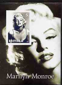 Eritrea 2001 Marilyn Monroe imperf m/sheet #3 unmounted mint