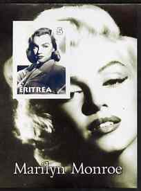 Eritrea 2001 Marilyn Monroe imperf m/sheet #4 unmounted mint