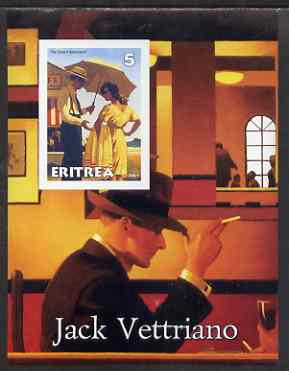 Eritrea 2001 Art of Jack Vettriano #1 imperf s/sheet unmounted mint