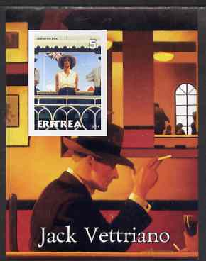 Eritrea 2001 Art of Jack Vettriano #2 imperf s/sheet unmounted mint