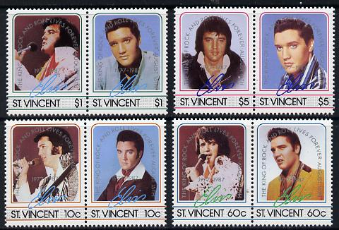 St Vincent 1987 Elvis Presley 10th Anniversary set of 8 unmounted mint SG 1070-7