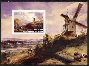 Benin 2003 Paintings of Windmills #01 imperf m/sheet unmounted mint