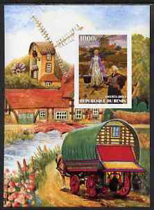 Benin 2003 Paintings of Windmills #03 imperf m/sheet unmounted mint