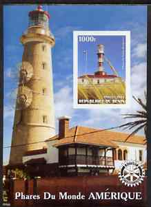 Benin 2003 Lighthouses of America imperf m/sheet #02 with Rotary Logo unmounted mint