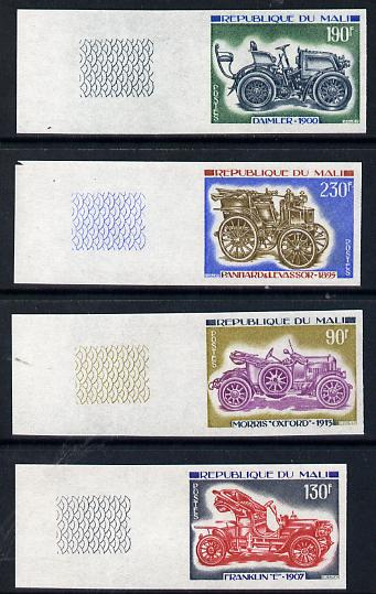 Mali 1975 Early Cars imperf set of 4 (as SG 494-7)