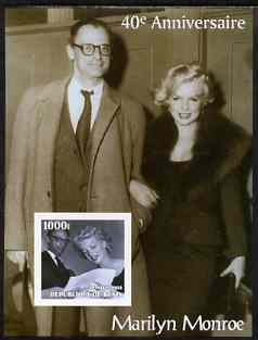 Benin 2003 40th Death Anniversary of Marilyn Monroe #08 - With Arthur Miller imperf m/sheet unmounted mint