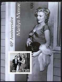 Benin 2003 40th Death Anniversary of Marilyn Monroe #09 - Holding Vinyl record imperf m/sheet unmounted mint