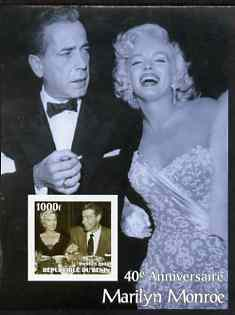 Benin 2003 40th Death Anniversary of Marilyn Monroe #10 - With Humphrey Bogart imperf m/sheet unmounted mint