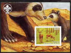Benin 2003 Wild Animals imperf m/sheet #01 (Deer) with Scout Logo unmounted mint