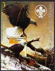 Congo 2004 Birds - Sur Salt Spring Island imperf s/sheet with Scout Logo in background unmounted mint
