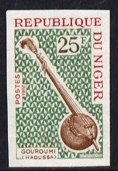 Niger Republic 1971 Gouroumi (Hausa) Musical Instruments 25f imperf unmounted mint (as SG 401)