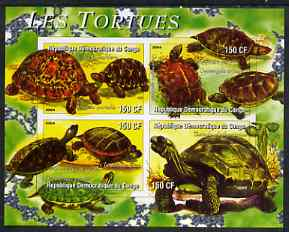 Congo 2004 Tortoises (Les Tortues) imperf sheetlet containing 4 values unmounted mint