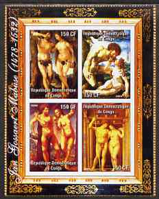 Congo 2004 Nude Paintings by Jan Gossaert Mabuse imperf sheetlet containing 4 values, unmounted mint
