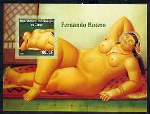 Congo 2005 Nude Paintings by F Botero imperf s/sheet unmounted mint