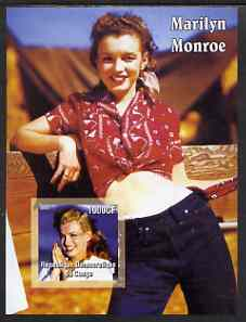 Congo 2005 Marilyn Monroe imperf s/sheet #06 (in red blouse) unmounted mint