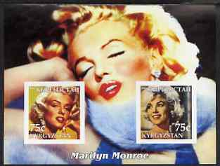 Kyrgyzstan 2003 Marilyn Monroe imperf m/sheet containing 2 values (Colour) unmounted mint