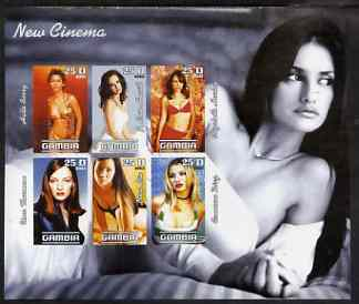 Gambia 2003 New Cinema - Young Actresses imperf sheetlet containing 6 values, unmounted mint