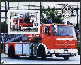 Djibouti 2004 Fire Engines #1 imperf s/sheet with Rotary Logo, unmounted mint