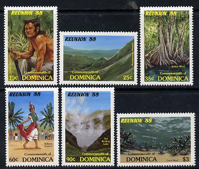 Dominica 1988 Reunion 88 Tourism set of 6 unmounted mint, SG 1119-24