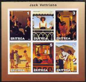 Eritrea 2001 Art of Jack Vettriano #1 imperf sheetlet containing 6 values unmounted mint