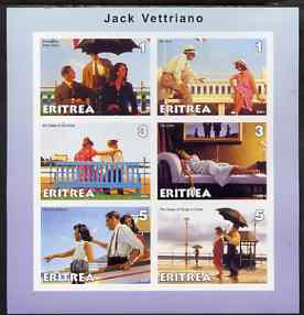 Eritrea 2001 Art of Jack Vettriano #2 imperf sheetlet containing 6 values unmounted mint