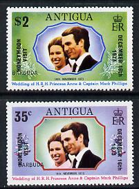 Barbuda 1973 Royal Wedding perf set of 2 opt