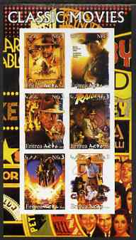 Eritrea 2003 Classic Movie (Posters) #1 imperf sheetlet containing set of 6 values unmounted mint