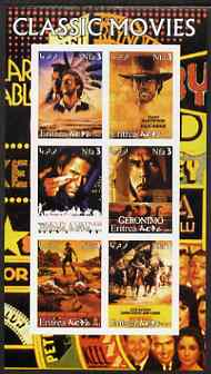 Eritrea 2003 Classic Movie (Posters) #2 imperf sheetlet containing set of 6 values unmounted mint