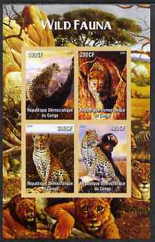 Congo 2005 Wild Fauna (Big Cats) imperf sheetlet containing 4 values unmounted mint