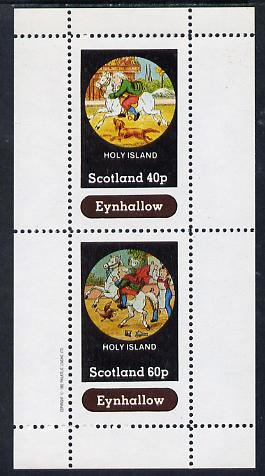 Eynhallow 1982 Fairy Tales (Riding a Horse #1) perf sheetlet containing set of 2 values unmounted mint