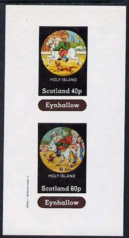 Eynhallow 1982 Fairy Tales (Riding a Horse #1) imperf sheetlet containing set of 2 values unmounted mint