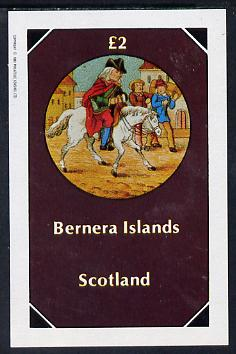 Bernera 1982 Fairy Tales (Riding a Horse) imperf deluxe sheet (�2 value) unmounted mint