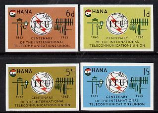 Ghana 1965 ITU imperf set of 4 unmounted mint as SG 369-72