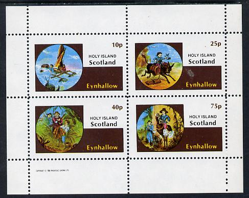 Eynhallow 1982 Fairy Tales (Adventures in the Jungle) perf sheetlet containing set of 4 values unmounted mint