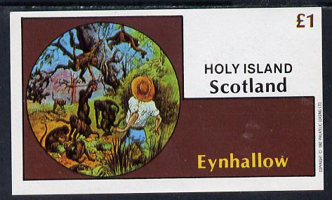 Eynhallow 1982 Fairy Tales (Adventures in the Jungle) imperf souvenir sheet (�1 value) unmounted mint