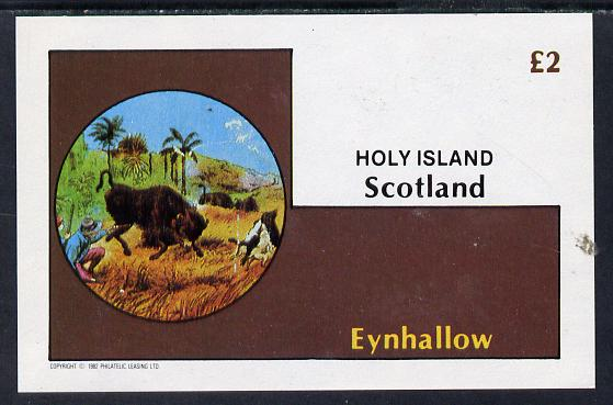 Eynhallow 1982 Fairy Tales (Adventures in the Jungle) imperf deluxe sheet (�2 value) unmounted mint