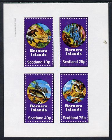 Bernera 1982 Fairy Tales (Adventures on the High Seas) perf sheetlet containing set of 4 values unmounted mint