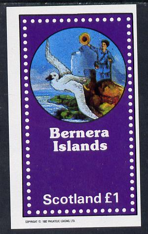Bernera 1982 Fairy Tales (Adventures on the High Seas) imperf souvenir sheet (�1 value) unmounted mint