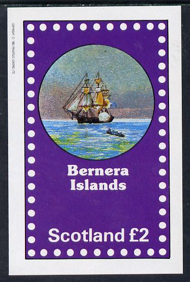 Bernera 1982 Fairy Tales (Adventures on the High Seas) imperf deluxe sheet (�2 value) unmounted mint