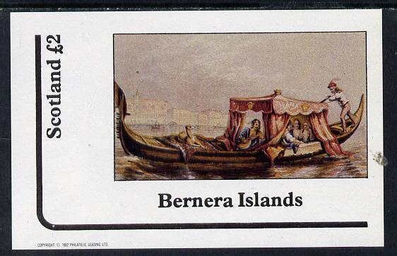 Bernera 1982 Pastoral Views imperf deluxe sheet (�2 value) unmounted mint, stamps on tourism