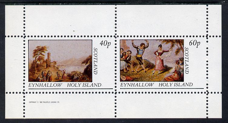 Eynhallow 1982 Country Life perf sheetlet containing set of 2 values unmounted mint