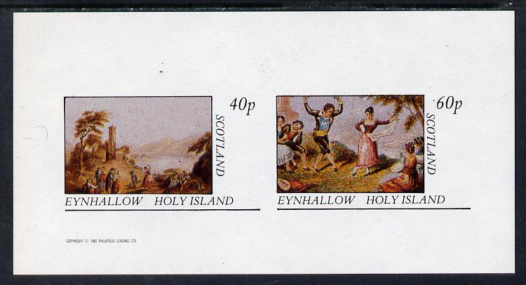 Eynhallow 1982 Country Life imperf sheetlet containing set of 2 values unmounted mint