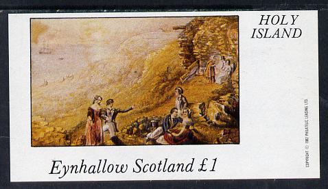 Eynhallow 1982 Country Life (the Picnic) imperf souvenir sheet (�1 value) unmounted mint