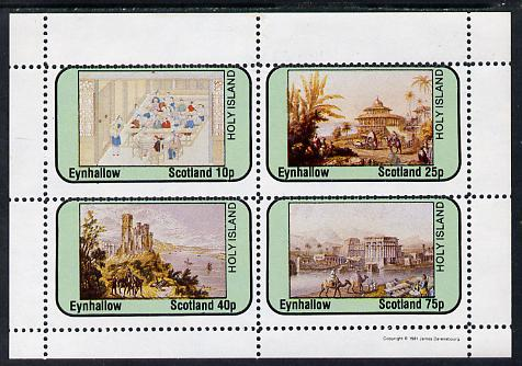 Eynhallow 1981 Travel Paintings perf sheetlet containing set of 4 values unmounted mint