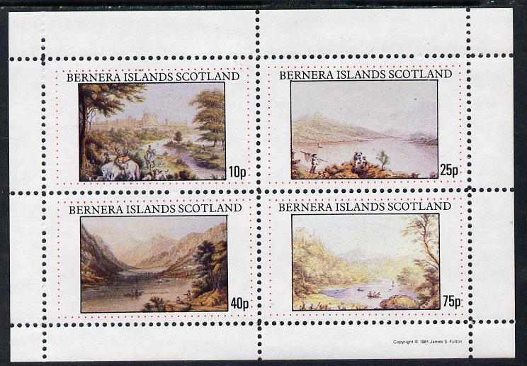 Bernera 1981 Paintings of Pastoral Views imperf sheetlet containing set of 4 values unmounted mint