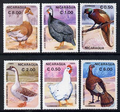 Nicaragua 1985 Domestic Birds set of 6 unmounted mint, SG 2686-91